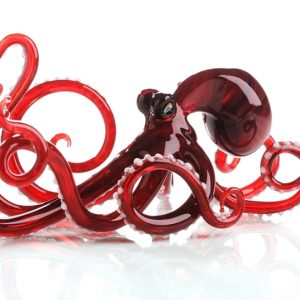 Red Glass Octopus