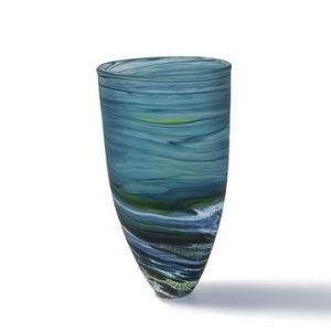 Tall Seaspray Vase-Aqua