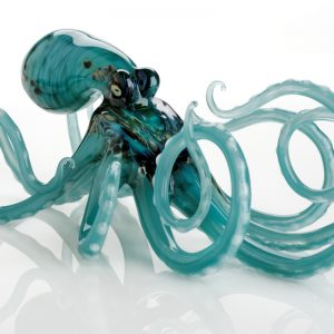 Aqua Glass Octopus