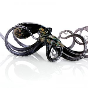 Black Glass Octopus
