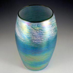 Small Cylinder Vase - Luster Series - Aqua