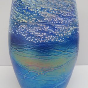 Small Cylinder Vase - Luster Series - Blue