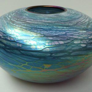 Galaxy Vase - Luster Series - Aqua