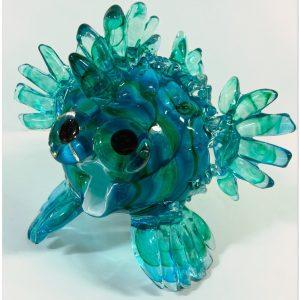 Puffer Fish Glass Sculpture