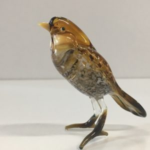 Glass Sparrow Figurine