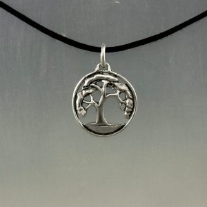 Small Oak Tree in Sterling Silver Forest Life Tree Pendant Necklace