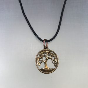 Small Oak Tree in Bronze,Forest Life Tree Pendant Necklace