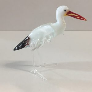 Glass Egret Figurine