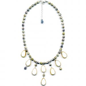 Cascade Necklace-White