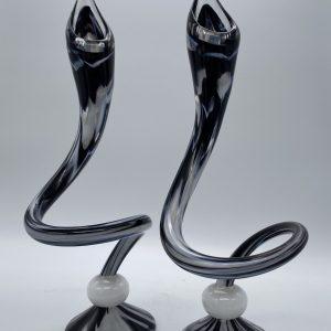 Jack N' Pulpit Candlesticks- Black and White (Short)