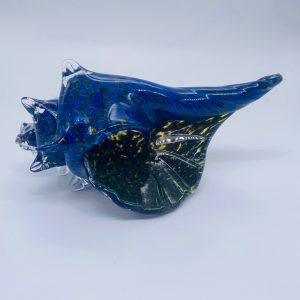 Glass Shell - Blue and Brown