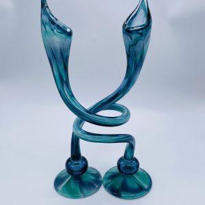 Jack N' Pulpit Candlesticks- Sea-foam Blue (Short)