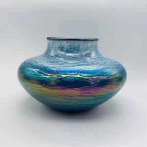 Low Vase - Luster Series - Green