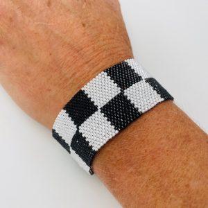 Checkered Beaded Bracelet